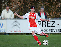 20150428 - VARSENARE , BELGIUM : Standard Cecile De Gernier pictured during the soccer match between the women teams of Club Brugge Vrouwen and Standard de Liege Femina , on the 24th matchday of the BeNeleague competition Tuesday 28 th April 2015 in Varsenare . PHOTO DAVID CATRY