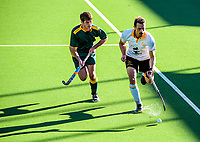 Action from the Wellington premier one men's hockey match between Dalefield and Victoria University at National Hockey Stadium in Wellington, New Zealand on Saturday, 15 May 2021. Photo: Dave Lintott / lintottphoto.co.nz