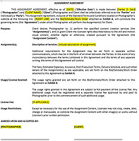 Assignment agreement & Estimate paperwork.