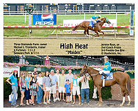 High Heat winning at Delaware Park on 8/1/11