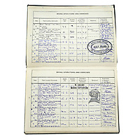 BNPS.co.uk (01202) 558833. <br /> Pic: Fellows/BNPS<br /> <br /> Pictured: Corporal Peter Melhuish's dive log book showing his work on the Mary Rose. <br /> <br /> A former British Army diver is selling the wristwatch he wore during the raising of the Mary Rose for £26,000.<br /> <br /> Corporal Peter Melhuish, of the Royal Engineers, had the Rolex Submariner 5513 on when Henry VIII's famous warship was lifted from The Solent in 1982.<br /> <br /> He also wore the diver's wristwatch during operations off the Falkland Islands after Britain and Argentina went to war that year.<br /> <br /> Peter, from Tunbridge Wells, Kent, has owned the timepiece since 1979 and put it on regularly up until five years ago. Since then, it has been kept in his sock drawer and he has now decided to sell it with Fellows Auctioneers, of Birmingham.