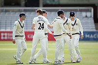 Martin Andersson, Middlesex CCC congratulated by team mates following the dismissal of Taylor during Middlesex CCC vs Gloucestershire CCC, LV Insurance County Championship Group 2 Cricket at Lord's Cricket Ground on 7th May 2021