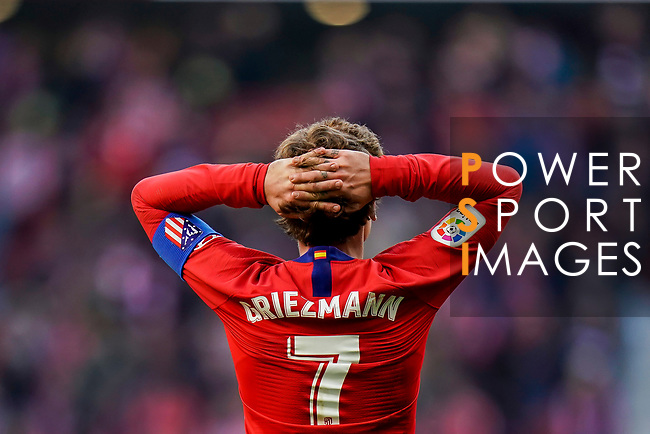 Antoine Griezmann of Atletico de Madrid reacts during the La Liga 2018-19 match between Atletico de Madrid and Deportivo Alaves at Wanda Metropolitano on December 08 2018 in Madrid, Spain. Photo by Diego Souto / Power Sport Images