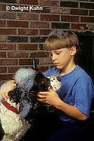 BH22-052z  Bubbles - boy washing dog