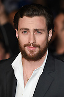 """Aaron Taylor Johnson<br /> arriving for the London Film Festival screening of """"Outlaw King"""" at the Cineworld Leicester Square, London<br /> <br /> ©Ash Knotek  D3446  17/10/2018"""
