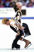 Albena Denkova and Maxim Staviyski of Bulgaria compete at Skate Canada. Photo copyright Scott Grant.