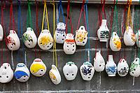 Zhenyuan, Guizhou, China.  Ceramic Whistles.