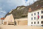 Regierung, Government, Landtag, Parliament, Schloss, Castle of Vaduz, Rheintal, Rhine-valley, Liechtenstein.