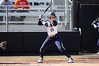 DURHAM, NC - FEBRUARY 29: Joley Mitchell #25 of the University of Notre Dame waits for a pitch during a game between Notre Dame and Duke at Duke Softball Stadium on February 29, 2020 in Durham, North Carolina.