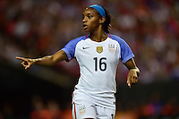 Atlanta, GA - Sunday Sept. 18, 2016: Crystal Dunn during a international friendly match between United States (USA) and Netherlands (NED) at Georgia Dome.