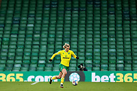 13th February 2021; Carrow Road, Norwich, Norfolk, England, English Football League Championship Football, Norwich versus Stoke City; Todd Cantwell of Norwich City us seen in front of a empty stand