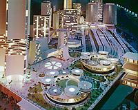 "City of Tomorrow from General Motors ""Futurama"" ride at the 1964-65 New York World's Fair. Photo by John G. Zimmerman."
