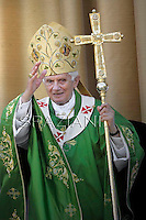 Pope Benedict XVI celebrates mass  in Frascati on the outskirts of Rome on July 15, 2012