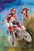 Interlitho, Luis, MASCULIN, paintings, motocross , red(KL3809,#M#)