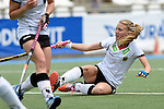 GER - Mannheim, Germany, May 24: During the U16 Girls match between Australia (green) and Germany (white) during the international witsun tournament on May 24, 2015 at Mannheimer HC in Mannheim, Germany. Final score 0-6 (0-3). (Photo by Dirk Markgraf / www.265-images.com) *** Local caption *** Camille Nobis #19 of Germany