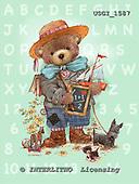 GIORDANO, CUTE ANIMALS, LUSTIGE TIERE, ANIMALITOS DIVERTIDOS, Teddies, paintings+++++,USGI1587,#AC# teddy bears