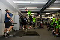 Matt Grimes of Swansea City in the gym during the Swansea City Training at The Fairwood Training Ground in Swansea, Wales, UK.  Wednesday 08 January 2020