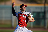 Dalton Strickland during the Under Armour All-America Pre-Season Tournament, powered by Baseball Factory, on January 19, 2019 at Sloan Park in Mesa, Arizona.  Dalton Strickland is an outfielder / right handed pitcher from Good Hope, Georgia who attends Loganville Christian Acadamy.  (Mike Janes/Four Seam Images)