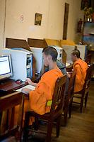 Monks at computers, Luang Prabang, Laos