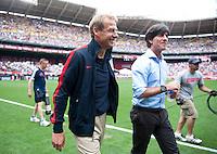 Jurgen Klinsmann, Joachim Loew.  The USMNT defeated Germany, 4-3, in a friendly match held at RFK Stadium in Washington, DC.