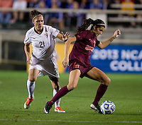 M. Bakowska-Mathews, Taylor Antolino. Florida State defeated Virginia Tech, 3-2,  at the NCAA Women's College Cup semifinals at WakeMed Soccer Park in Cary, NC.