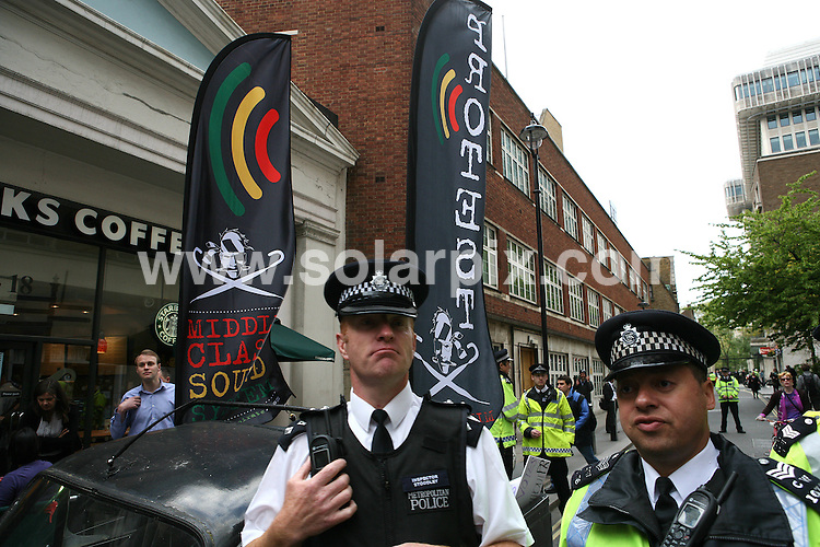 **ALL ROUND PICTURES FROM SOLARPIX.COM**.**WORLDWIDE SYNDICATION RIGHTS**.Protest during the Liberal Democrats meeting at the Work Foundation whilst the Uk waits to hear who the new Prime Minster will be in London, UK....JOB REF: 11234      MLW     DATE: 10.05.2010.**MUST CREDIT SOLARPIX.COM OR DOUBLE FEE WILL BE CHARGED**.**MUST NOTIFY SOLARPIX OF ONLINE USAGE**.**CALL US ON: +34 952 811 768 or LOW RATE FROM UK 0844 617 7637**