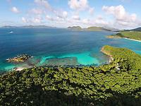 Aerial view of Denis Bay<br /> Virgin Islands National Park<br /> St. John, U.S. Virgin Islands