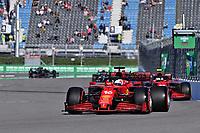 25th September 2021; Sochi, Russia; F1 Grand Prix of Russia  qualifying sessions; 16 LECLERC Charles mco, Scuderia Ferrari SF21