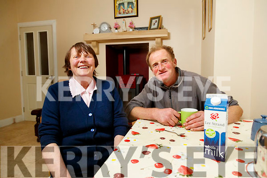 Nell O'Connell and her son Pat from Kielduff, Tralee back in their house after it was destroyed by a fire in 2015.