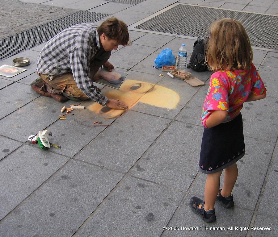Pompidou Sidewalk Artist