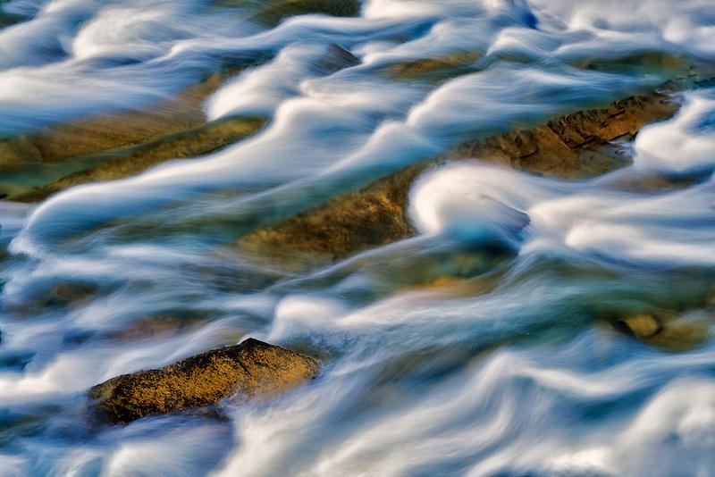 Rapids at McDonald Creek. Glacier National Park, Montanna