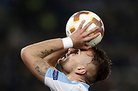 Europa League quarter-final 1st leg <br /> S.S. Lazio - FC Salzburg  Olympic Stadium Rome, April 5, 2018.<br /> Lazio's Ciro Immobile reacts during the Europa League match between Lazio and Salzburg at Rome's Olympic stadium, April 5, 2018.<br /> UPDATE IMAGES PRESS/Isabella Bonotto