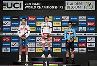 Gustav Wang (DEN) is the new Junior TT World Champion.<br /> Joshua Tarling (GBR) finishes 2nd.<br /> Alec Segaert (BEL) finishes 3rd.<br /> <br /> Junior Men Individual Time Trial from Knokke-Heist to Bruges (22.3 km)<br /> <br /> UCI Road World Championships - Flanders Belgium 2021<br /> <br /> ©kramon