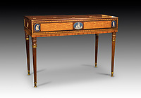 BNPS.co.uk (01202) 558833<br /> Pic: Dreweatts/BNPS<br /> <br /> Pictured: A Wedgwood Square Piano, circa 1795 with Wedgwood plaques has an estimate of £8,000<br /> <br /> A remarkable collection of rare pianos belonging to the Queen's personal restorer and conservator has emerged for sale for £250,000.<br /> <br /> David Winston is parting with 26 pianos he has amassed over the past 30 years dating from the 18th century to the present day.<br /> <br /> Mr Winston, who was awarded the Royal Warrant in 2012, is regarded as one of the foremost experts in his field and has restored pianos owned and played by Beethoven, Chopin and Liszt.<br /> <br /> His collection includes a 1925 Pleyel grand piano fitted with an original 'Auto Pleyela' self-playing mechanism in a spectacular Chinoiserie Louis XV case valued at 60,000.