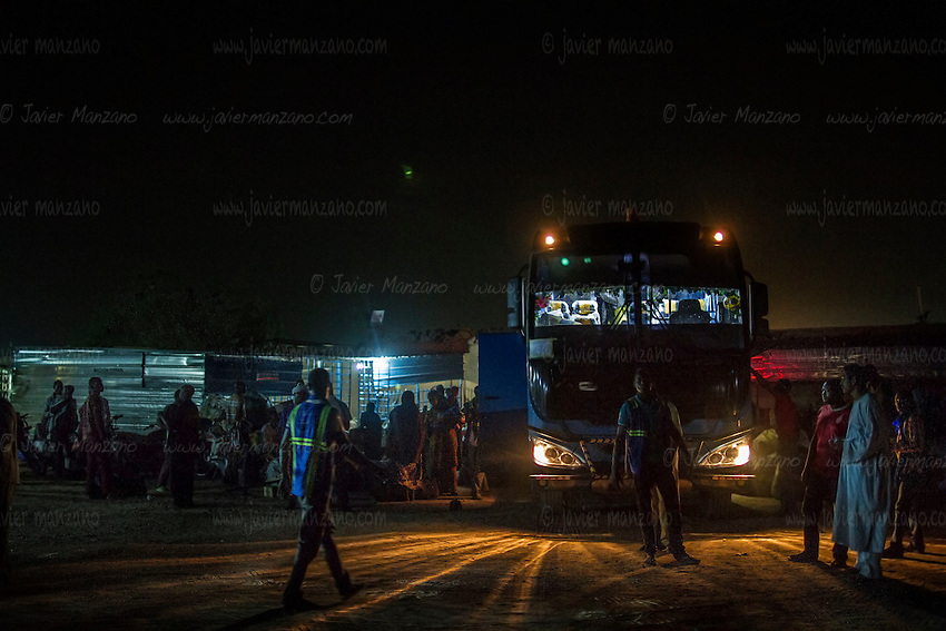 AGADEZ, NIGER — <br /> The bus station in Agadez, Niger is the final stop before thousands of migrants continue their journey north through the Sahara desert with the help of a sophisticated network of smugglers. a