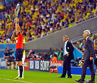 RIO DE JANEIRO - BRASIL -28-06-2014. Jose Pekerman técnico de Colombia (COL) durante partido de los octavos de final con Uruguay (URU) por la Copa Mundial de la FIFA Brasil 2014 jugado en el estadio Maracaná de Río de Janeiro./ Jose Pekerman coach of Colombia (COL) during the match of the Round of 16 against Uruguay (URU) for the 2014 FIFA World Cup Brazil played at Maracana stadium in Rio do Janeiro. Photo: VizzorImage / Alfredo Gutiérrez / Contribuidor