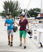 Christopher Sean, Ryan Carnes, Christian LeBlanc -  Actors from Y&R, Days and General Hospital donated their time to Southwest Florida 16th Annual SOAPFEST and during the weekend took a break to chill on one of the boats to see dolphins and to swim off Marco Island, Florida on May 23, 2015 - a celebrity weekend May 22 thru May 25, 2015 benefitting the Arts for Kids and children with special needs and ITC - Island Theatre Co.  (Photos by Sue Coflin/Max Photos)