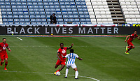 A general view of the advertising boards displaying the Black Lives Matter message<br /> <br /> Photographer Alex Dodd/CameraSport<br /> <br /> The EFL Sky Bet Championship - Huddersfield Town v Wigan Athletic - Saturday 20th June 2020 - John Smith's Stadium - Huddersfield <br /> <br /> World Copyright © 2020 CameraSport. All rights reserved. 43 Linden Ave. Countesthorpe. Leicester. England. LE8 5PG - Tel: +44 (0) 116 277 4147 - admin@camerasport.com - www.camerasport.com