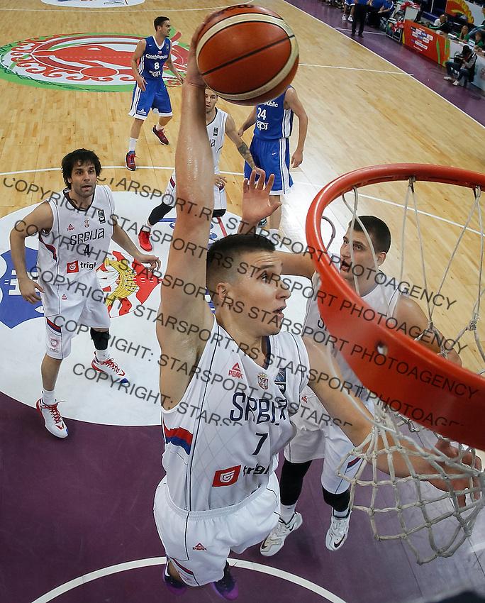 Kosarka FIBA Olympic Basketball Qualifying Tournament-Semifinals-Polufinale<br /> Serbia v Czech Republic<br /> Bogdan Bogdanovic (C) Milos Teodosic (L) and Nikola Jokic (R)<br /> Beograd, 08.07.2016.<br /> foto: Srdjan Stevanovic/Starsportphoto©