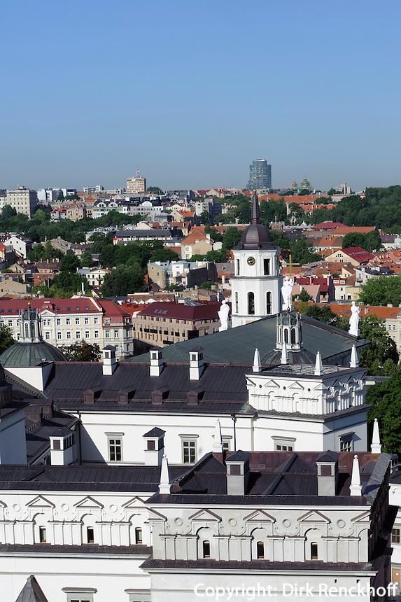 Blick von der Burg in Vilnius, Litauen, Europa, Unesco-Weltkulturerbe