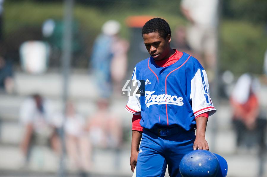 Baseball - 2009 European Championship Juniors (under 18 years old) - Bonn (Germany) - 04/08/2009 - Day 2 - Edison Garcia (France)
