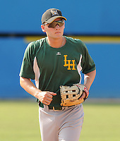 July 16, 2009: Infielder Eddie Prasch (14) of the Lynchburg Hillcats, Carolina League affiliate of the Pittsburgh Pirates, in a game at G. Richard Pfitzner Stadium in Woodbridge, Va. Photo by: Tom Priddy/Four Seam Images