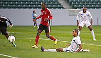 CARSON, CA - March 27, 2012: Eddie Hernandez (13) of Honduras during the Honduras vs Trinidad & Tobago match at the Home Depot Center in Carson, California. Final score Honduras 2, Trinidad & Tobago 0.