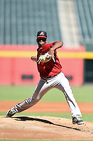 Arizona Diamondbacks pitcher Touki Toussaint (23) during an Instructional League game against the Oakland Athletics on October 10, 2014 at Chase Field in Phoenix, Arizona.  (Mike Janes/Four Seam Images)