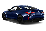 Car pictures of rear three quarter view of 2021 BMW M4-Coupe Competition 2 Door Coupe Angular Rear