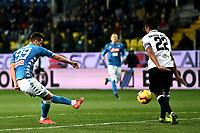 Arkadiusz Milik of Napoli scores a goal <br /> Parma 24-02-2019 Ennio Tardini <br /> Football Serie A 2018/2019 Parma - Napoli <br /> Foto Image Sport / Insidefoto