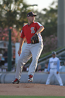 Salem Red Sox pitcher Matt Barnes #35 on the mound during a game against the Myrtle Beach Pelicans at Tickerreturn.com Field at Pelicans Ballpark on May 11, 2012 in Myrtle Beach, South Carolina. Salem defeated Myrtle Beach by the score of 5-3 in 14 innings. (Robert Gurganus/Four Seam Images)