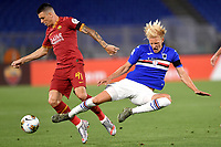 Roger Ibanez of Roma and Morten Thorsby of Sampdoria <br /> during the Serie A football match between AS Roma and UC Sampdoria at Olimpico stadium in Rome ( Italy ), June 24th, 2020. Play resumes behind closed doors following the outbreak of the coronavirus disease. <br /> Photo Andrea Staccioli / Insidefoto