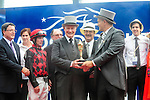Governor General David Johnston (Left in top hat) at Queen's Plate  at Woodbine Raceway in Toronto, Canada on July 07, 2013.