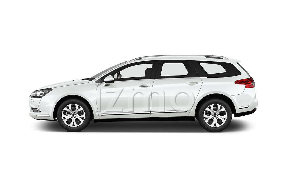 Car Driver side profile view of a 2015 Citroen C5-Tourer-XTR Hydractive-Exclusive 5 Door wagon Side View